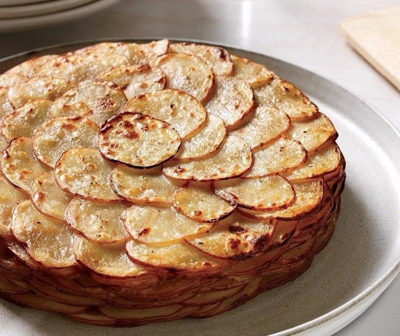 Картофель духовке слоями рецепт фото