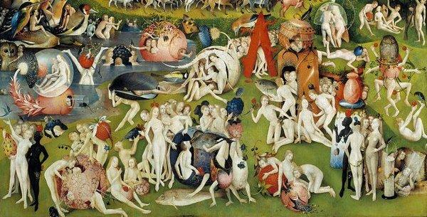 Рис. 1. Иероним Босх. «Сад земных наслаждений».1500-1510.