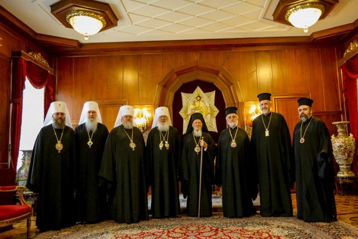 Делегация Священного Синода УПЦ встретилась с Патриархом Константинопольским Варфоломеем