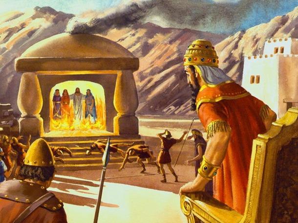 Три отрока в пещи огненной — иудейские юноши в вавилонском пленении, друзья пророка Даниила, которые были брошены в огонь царем Навуходоносором за отказ поклониться идолу, но были сохранены архангелом Михаилом и вышли оттуда невредимыми