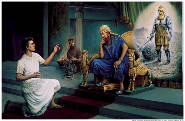 Даниил истолковывает Навуходоносору его сон